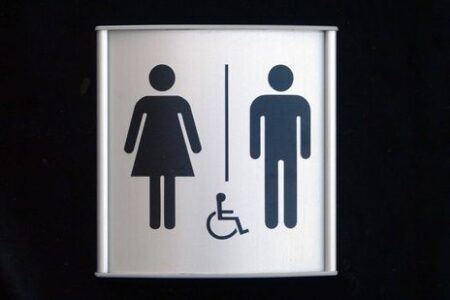 Metal Restroom Door Signs